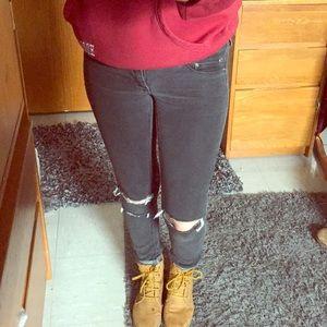 Denim - Black ripped jeans